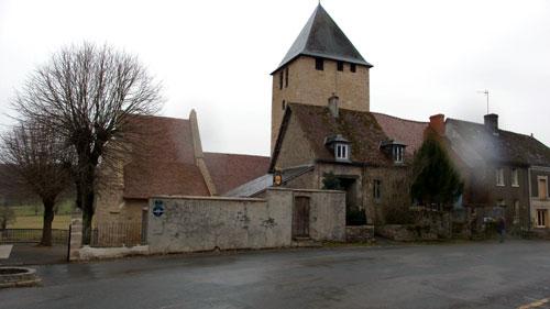 Kerk in het dorp