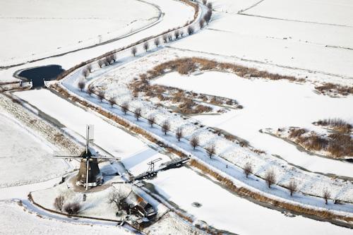 Abcoude in de sneeuw © Siebe Swart